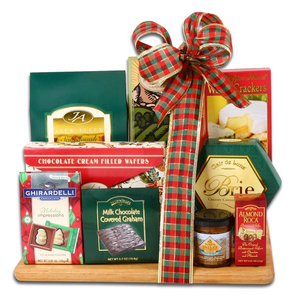 Holiday Food Basket & Cutting Board Gift Set