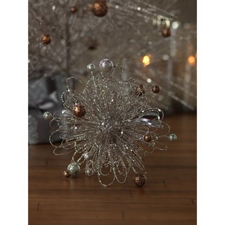 Glitter Wire Decoration with Small Ornaments