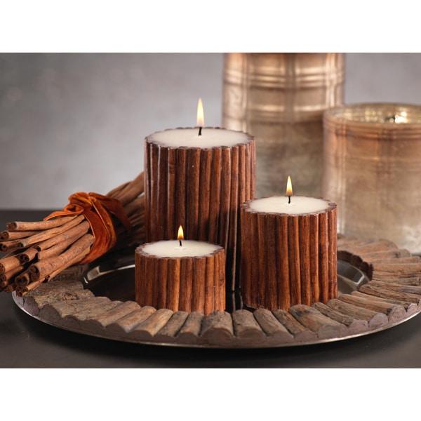 Cinnamon Stick Scented Pillar Candle