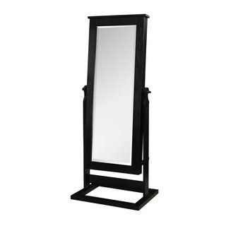 Powell Black Cheval Mirror Armoire