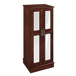 Powell Cherry and Mirror 2-door Jewelry Armoire
