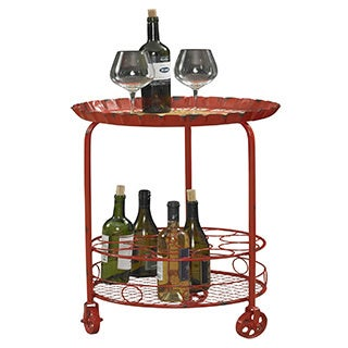 Powell Rolling Bottle Wine Rack