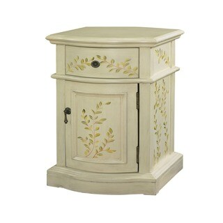 Powell White Chairside Cabinet