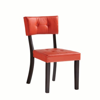 Powell Prism Red Faux Leather Side Chair (Set of 2)