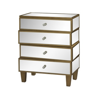 Powell Wonky Gold and Mirror Drawer Chest