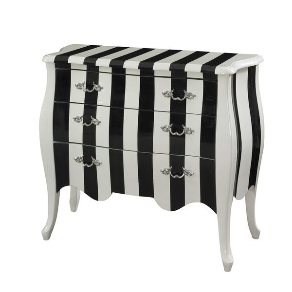Powell White and Black Stripe Chest
