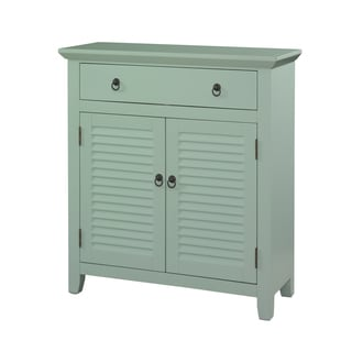 Powell Blue 1-drawer 2-door Shutter Console