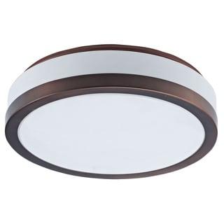 Dainolite 3-light Oil Brushed Bronze Flush Mount Fixture