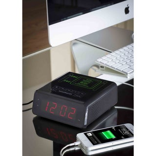 Modernhome Induction Speaker Alarm Clock/ Charging Station