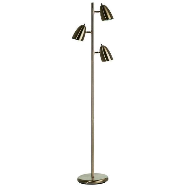 antique brass adjustable 3 light floor lamp 16643167. Black Bedroom Furniture Sets. Home Design Ideas