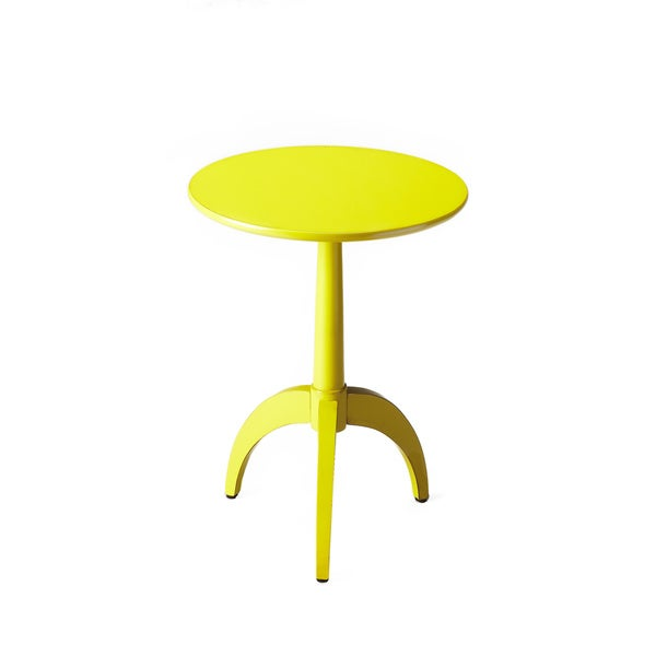 Sunny Yellow Tripod Side Table