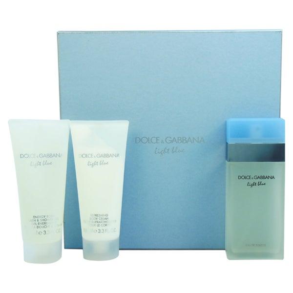 Dolce & Gabbana Light Blue Women's 3-piece Gift Set