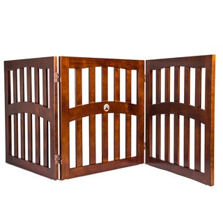 Pansy Convertible 3-Panel Wooden Pet Gate by Elegant Home Fashions