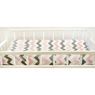 My Baby Sam Pink Chevron Changing Pad Cover