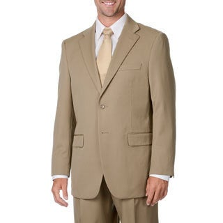 Cianni Cellini Men's Tan Wool Gabardine Suit