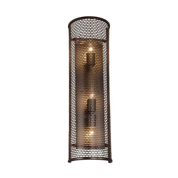 Varaluz Lit-Mesh Test 3-light New Bronze Sconce