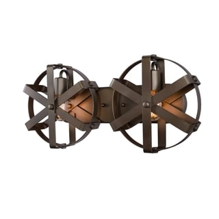 Varaluz Reel 2-light Rustic Bronze Wall Sconce