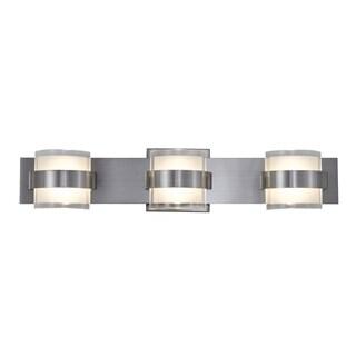 Alternating Current Restraint 3-light Polished Chrome Vanity