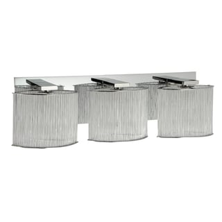 Alternating Current Array 3-light Polished Chrome Vanity