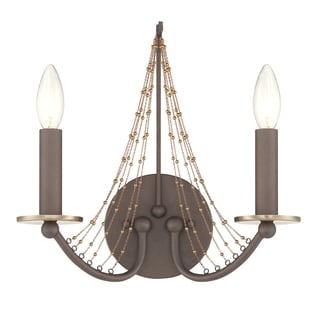 Varaluz Swept Away 2-light Rustic Bronze Wall Sconce