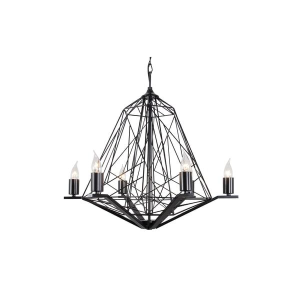Varaluz Wright Stuff 6-light Black Chandelier