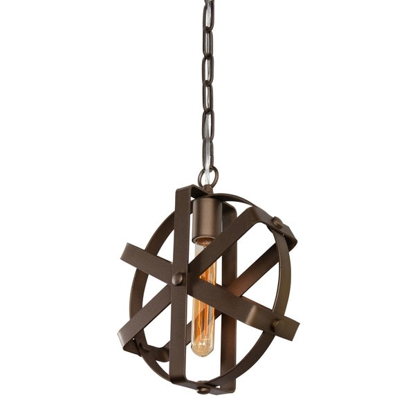 Varaluz Reel 1-light Rustic Bronze Mini Pendant
