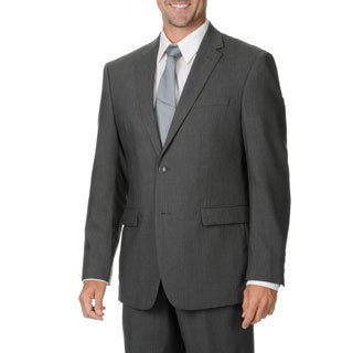 Montefino Mondo Men's 'Super 120' Merino Grey Wool Suit
