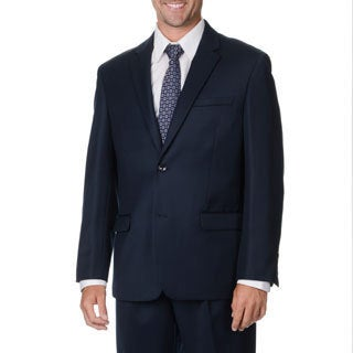 Ferretti Men's Navy Wool 2-button Suit