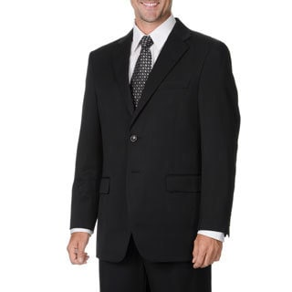 Ferretti Men's Black 2-button Wool Suit