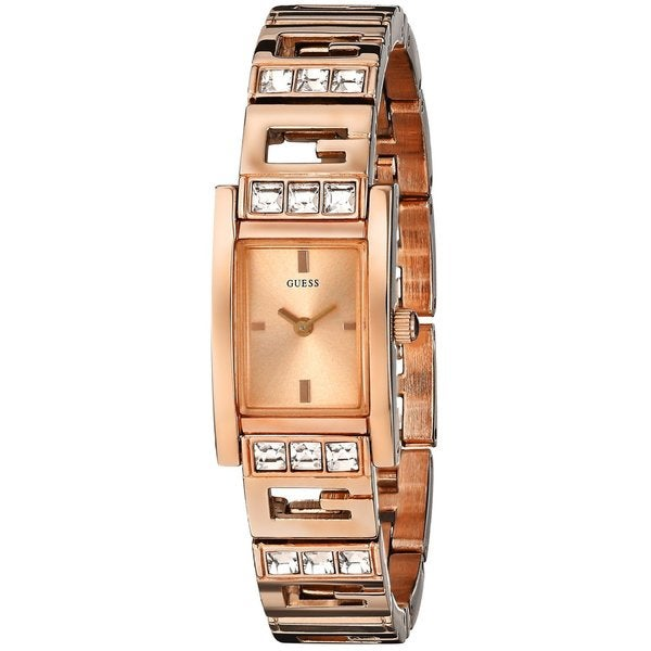 Guess Women's U0200L1 G-Iconic Sophistication Crystal Rose Goldtone Watch