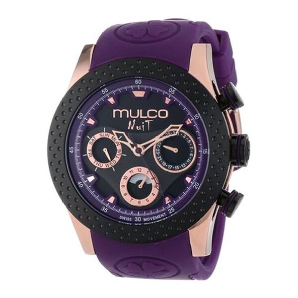 Mulco Women's Nuit Rose Gold-plated Steel Purple Watch 14009146