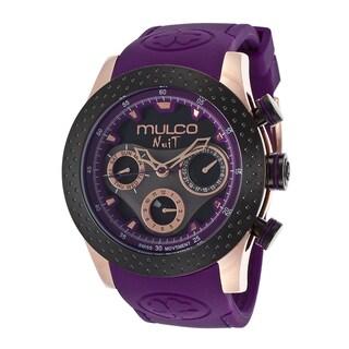 Mulco Women's Nuit Rose Gold-plated Steel Purple Watch