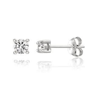 DB Designs Sterling Silver 1/8ct TDW White Diamond Stud Earrings (G-H, I2-I3)