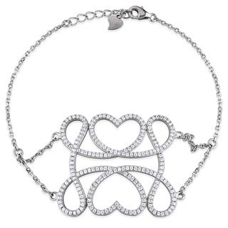 M by Miadora Sterling Silver Cubic Zirconia Fashion Bracelet