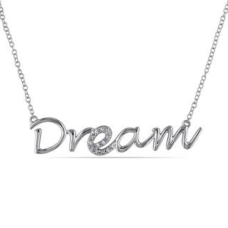 """Haylee Jewels Sterling Silver Diamond Accent """"Dream"""" Necklace"""