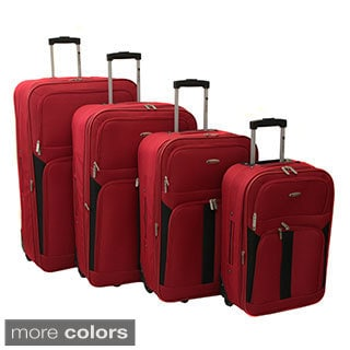 Dumont Traditional 4-piece Expandable Wheeled Luggage Set