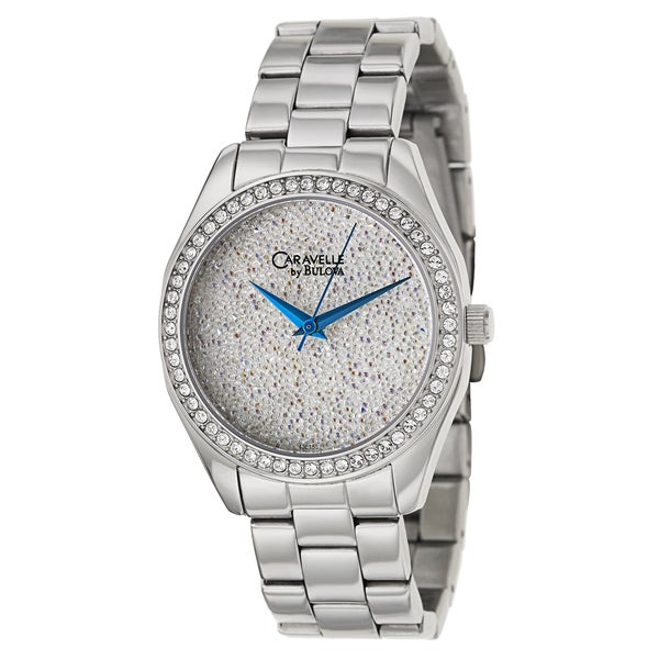 Caravelle by Bulova Women's Crystal 43L158 Stainless Steel Quartz Watch