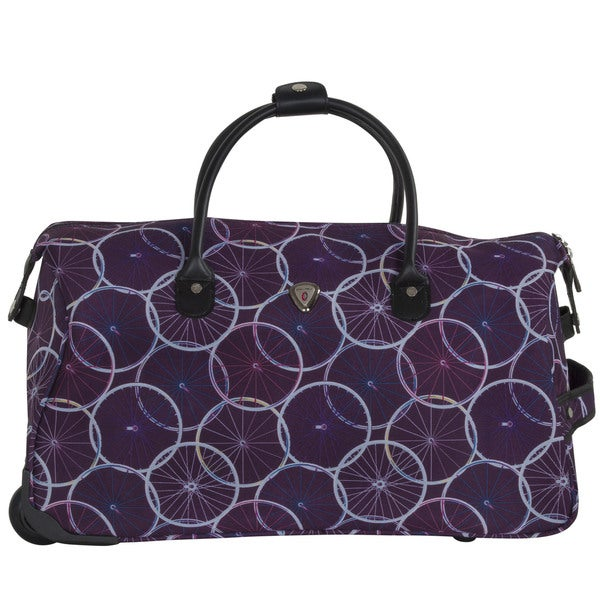 CalPak Soho Purple Wheels 21-inch Carry On Rolling Upright Duffel Bag