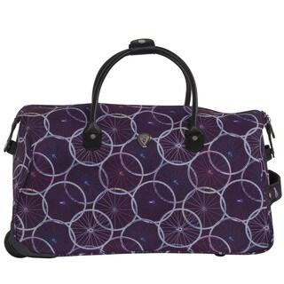 CalPak Soho Purple Wheels 21-inch Carry On Rolling Upright Duffel Bag
