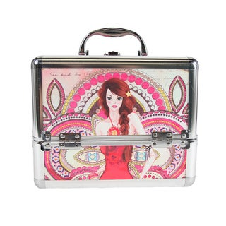Nicole Lee Marina Print Travel Cosmetic Case with Mirrror