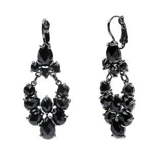 Carolee Twilight Glimmer Black Teardrop Dangle Earrings