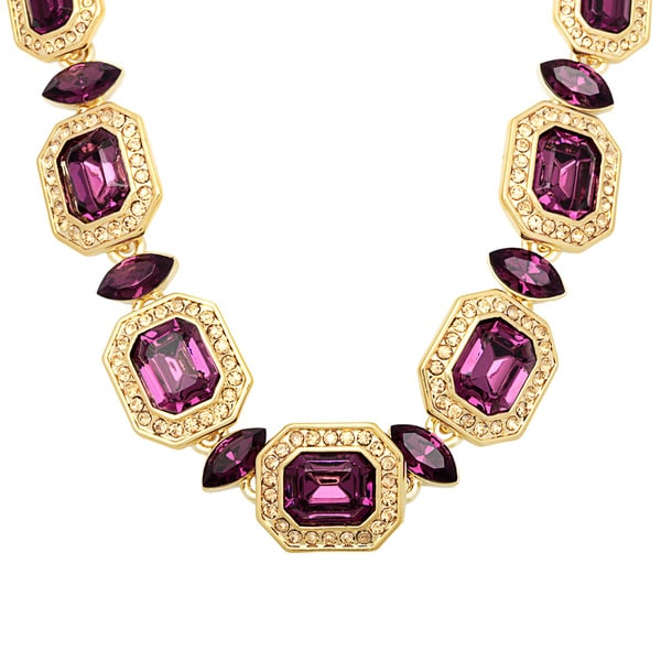 Carolee 16-inch Goldtone Amethyst Crystal Necklace