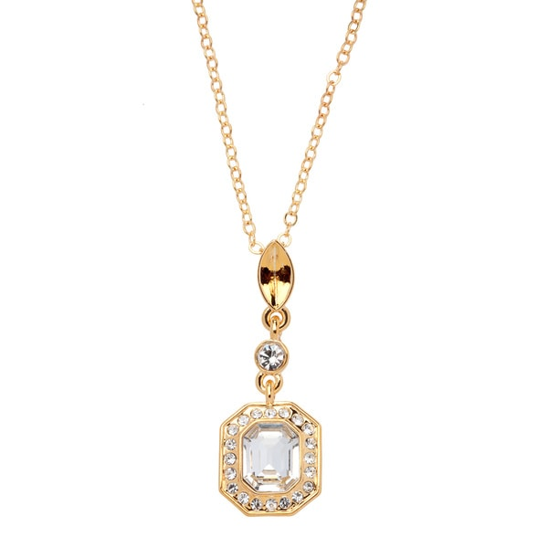 Carolee White Crystal Necklace