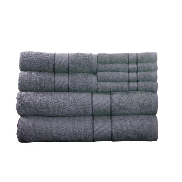 Lavish Home 100-percent Cotton 500 GSM 8-piece Towel Set