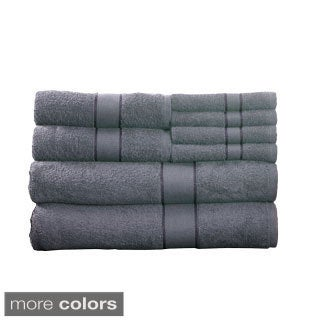 Lavish Home 100-percent Cotton 500 GSM 8-piece Towel Set