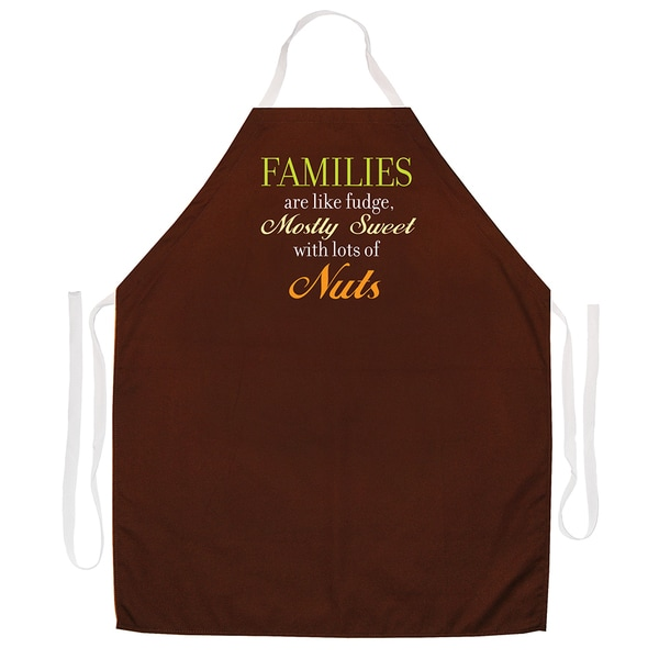 Attitude Aprons Families are Like Fudge Apron