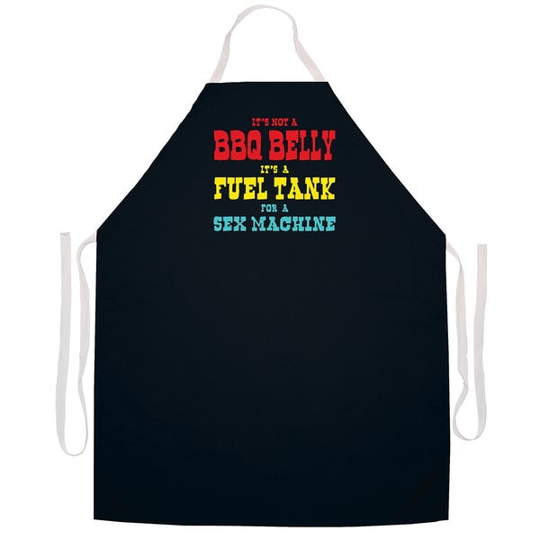 Attitude Aprons BBQ Belly Sex Machine Apron