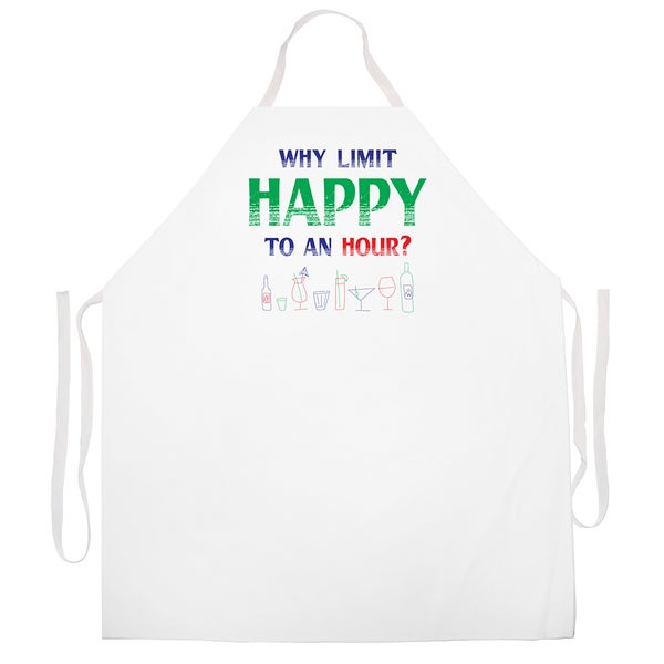Attitude Aprons Why Limit Happy Apron