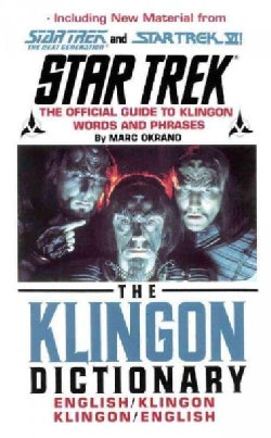 The Klingon Dictionary: English/Klingon Klingon/English (Paperback)