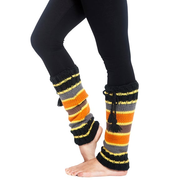 Women's Chic Striped Legwarmers (Nepal)